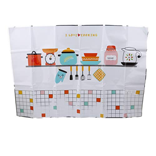Weryffe Küche Badezimmer Selbstklebende Tapeten Wasserfeste Folie Aufkleber Antiöl Wrap Küche Wand Fliesen Aufkleber (Küchengestaltung)