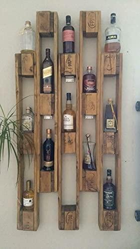 Scaffale porta bottiglie/libri/oggetti in pallet EPAL 100% stile country- 15 ripiani - dimensioni 75x150 cm