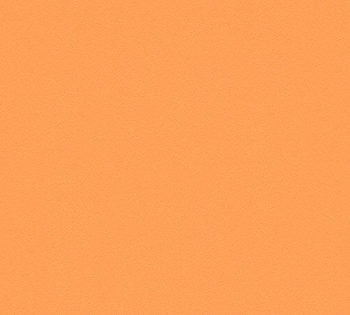A.S. Création Vliestapete MeisterVlies 5 Tapete Uni 10,05 m x 0,53 m orange Made in Germany 309587 3095-87