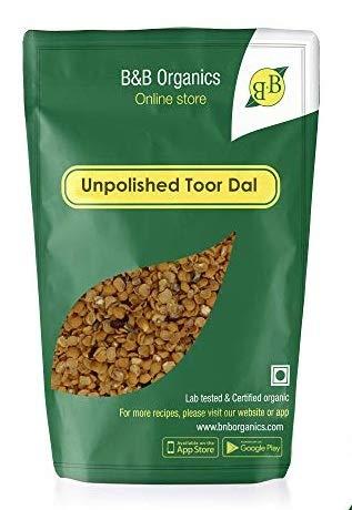 Unpolished Pigeon Peas /Toordal 2 kg (70.54 OZ)