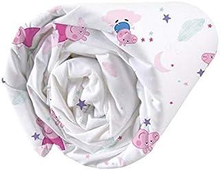 Peppa Pig Dream Drap Housse 100% Coton 90X190 Cm