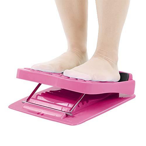 TANKE Zusammenklappbares Fuß-/Waden-Stretcher, Massage-/Bein-/Fitness-Pedal, 1300 g, Pink