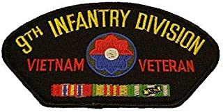 Embroidered Patch - Patches for Women Man - US Army 9TH ID Ninth Infantry Division Vietnam Veteran W/Campaign Ribbons