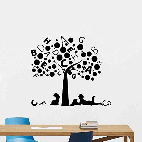 Pegatinas de pared Sala de lectura Biblioteca Aula Escuela Carta Vinilo Pegatinas de ventana Decoración de pared Azulejos Pegatinas de pared autoadhesivas