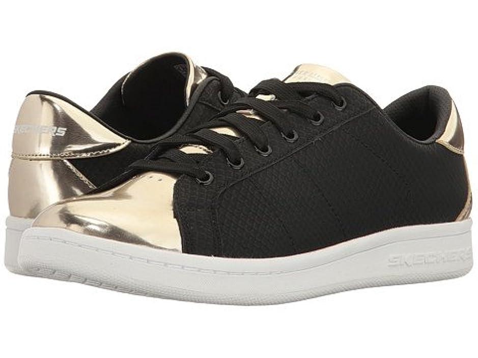 意欲読者デッキ(スケッチャーズ) SKECHERS レディーススニーカー?ウォーキングシューズ?靴 Omne - Jungle Jog Black/Gold 9.5 26.5cm B - Medium [並行輸入品]