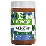 ORIVEGO Mantequilla de almendras orgánica, 450 g – Crema de almendras 100% natural, vegana, sin azúcar y con certificación de producto orgánico