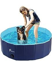 Pidsenペット用プール折りたたみポータブルバスグッズ 犬、猫用 子どもの水遊びプールにも PVC製