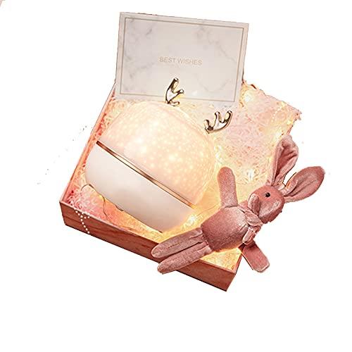 SXBF Lámpara de proyector, luces nocturnas para niños, lámpara de proyector de ciervos Meng, para habitación de bebé, sala de estar, festivales, regalos de lujo, D