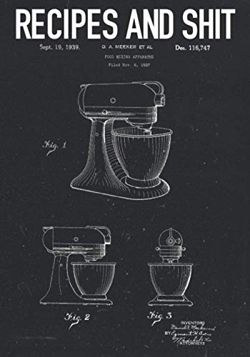 Recipes and Shit: Notebooks are great for storing favorite recipes, passing down family secrets, or taking quick recipe notes on the go. | FOOD MIXING APPARATUS Patent D.A. MEEKER ET