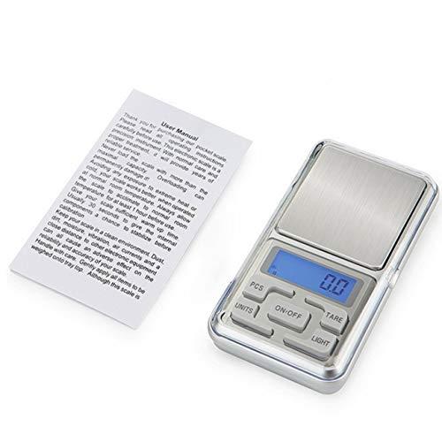 Tree-on-Life Mini básculas Digitales de precisión para bisutería de Oro Báscula de Plata esterlina Peso de joyería Básculas electrónicas Báscula electrónica de Bolsillo