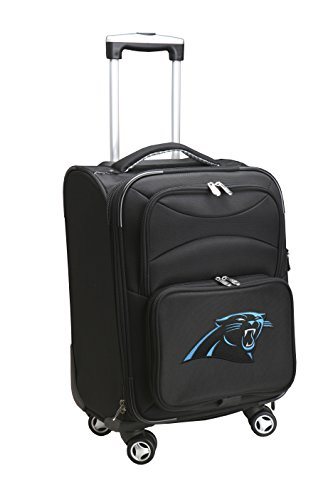 Denco NFL Carolina Panthers Domestic Carry-On Spinner, 20-Inch, Black