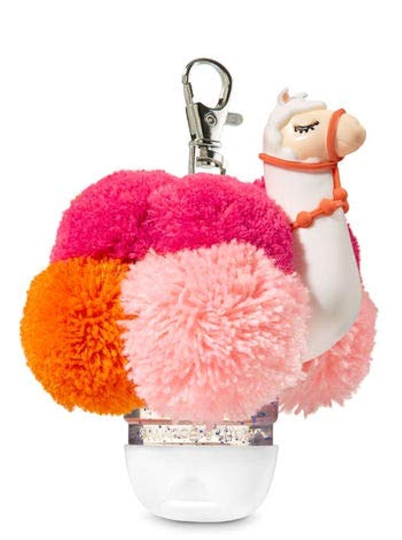 柱拍手ラグ【Bath&Body Works/バス&ボディワークス】 抗菌ハンドジェルホルダー ラマポム Pocketbac Holder Llama Pom [並行輸入品]