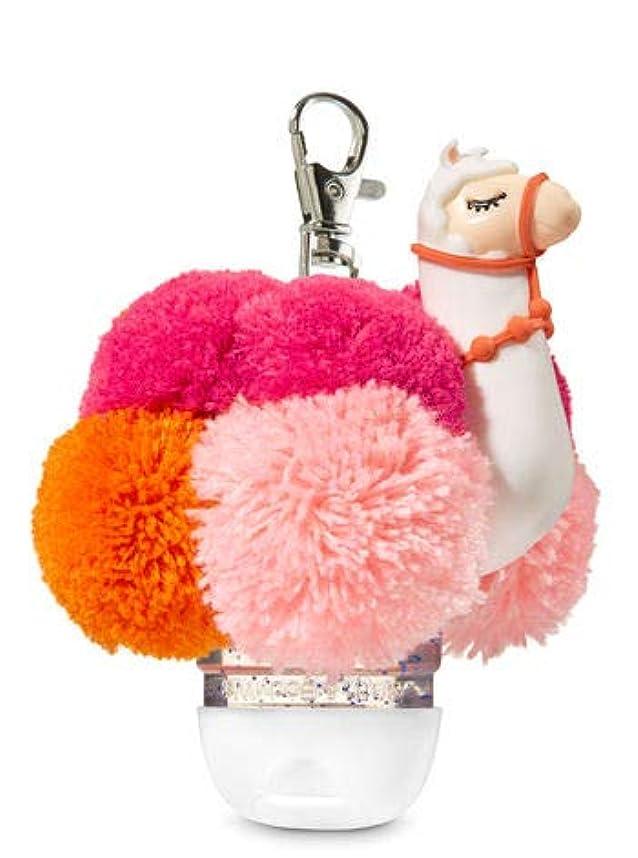 喪水星キロメートル【Bath&Body Works/バス&ボディワークス】 抗菌ハンドジェルホルダー ラマポム Pocketbac Holder Llama Pom [並行輸入品]