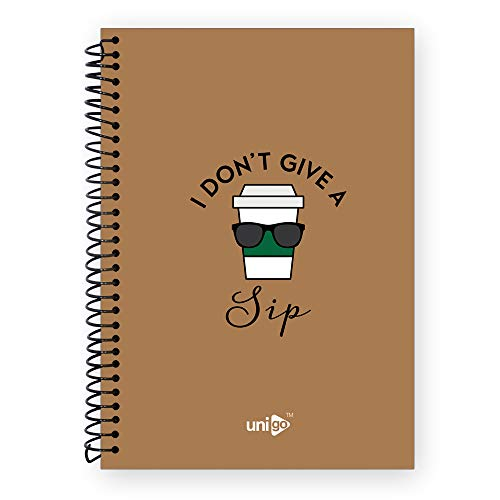 Unigo Spiral Notebook (Uni-16, 200 Pages Ruled) Durable and Attractive Soft Cover with Wirebound, Bright and Smooth Pages