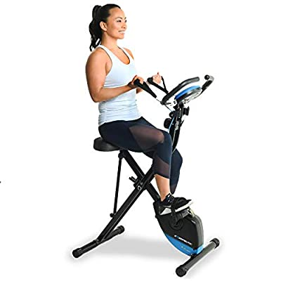 Exerpeutic Bluetooth Smart Foldable Bike with Resistance Bands and Free MyCloudFitness App