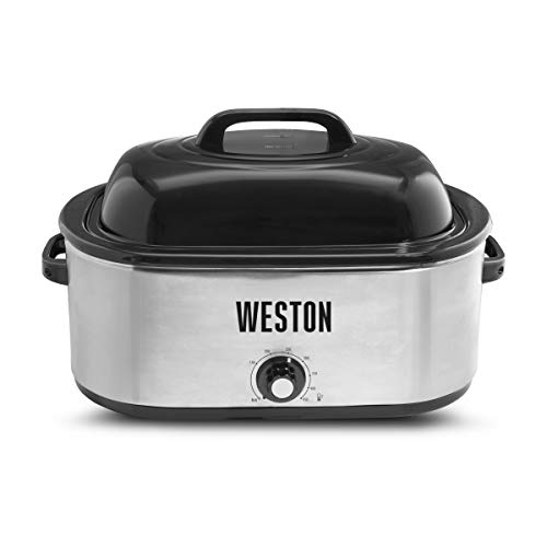 rival roasting pans Weston Roaster Oven, 22 Quart, Stainless Steel
