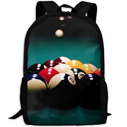 Backpack,Best Billiard Ball Sport Rucksack, Geeignete Rucksäcke Für Wanderungen,43x28x16cm