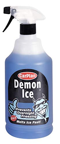 Price comparison product image Carplan Demon Ice Prevents Overnight Freezing De-icer Windscreen 2 In 1 Melts Ice Fast Protects Against Freezing To -20°c 1 Litre + IgnitionLine Air Freshener
