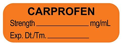 United Ad Label Anesthesia Labels CARPROFEN MG/ML, 1-1/2