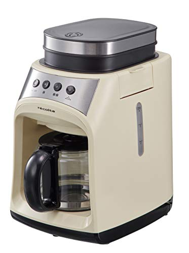 レコルトグラインドアンドドリップコーヒーメーカーフィーカ[ホワイト/RGD-1]recolteGrind&DripCoffeeMakerFIKA