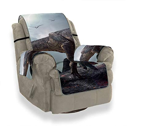 JOCHUAN 3 D Rendering King Dinosaurs Tyrannosaurus Rex Nice Sofa Covers Seat Sofa Cushion Chair Slipcover Recliner Furniture Protector for Pets, Kids, Cats, Sofa