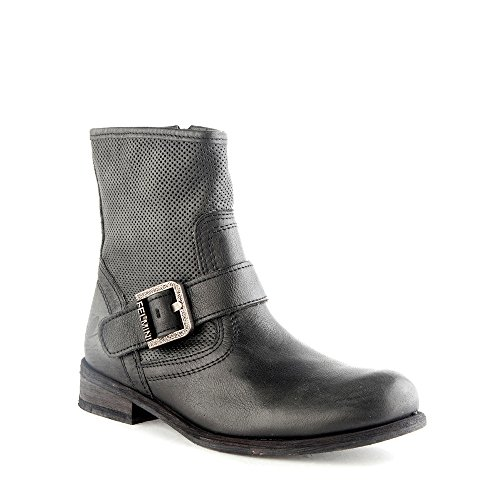 Felmini - Scarpe Donna - Innamorarsi Com Gredo 8265 - Stivali Cowboy & Biker - Pelle Genuina - Nero - 39 EU Size