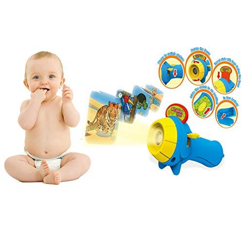 Kinder Taschenlampe Kindertaschenlampe Projektionslampe, Glühende Früherziehung Spielzeug Baby Schlaf Geschichte Projektor Vorschule Spielzeug