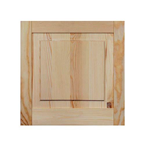 Kassettentür Holztür natur 39,5 x 39,4 cm Schranktür Raumteiler Schiebetür für Regale, Schränke, Möbel | Kiefer Holz unbehandelt