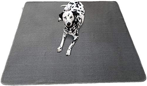 Kluein Pet Playpen Mat 48x65 XXL Washable Puppy Pad Dog Pen Mat Soft Fleece Top Waterproof Non-Slip Dog Mat for; Dog playpen, Whelping Box, Kennel, Potty Training, Travel, Dog, Cat, Bunny, Guinea Pig