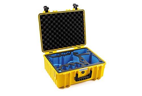 B&W Transportkoffer Outdoor für DJI FPV Combo Drohne Type 6000 gelb - wasserdicht nach IP67 Zertifizierung