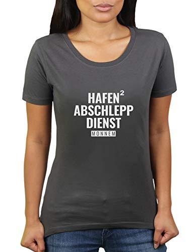 Hafen Abschlepp Dienst Monnem Mannheim - Damen T-Shirt von KaterLikoli, Gr. XL, Anthrazit