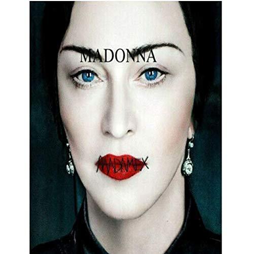 baiyinlongshop Poster E Stampe Madame X Madonna Musica Pop Star Album Cover Art Poster Tela Pittura Oggettistica per La Casa No Frame 40X60Cm
