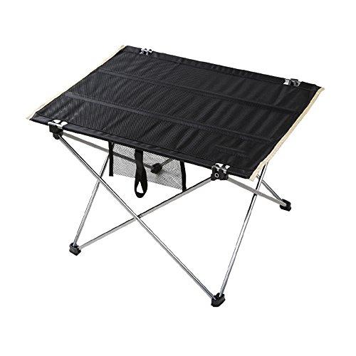 ZXQZ zhuozi Tableau et Chaise en Aluminium Ultra-légers de Tableau Pliant Tableau et Chaise combinés Noirs de Tableau Bureau Pliant (Couleur : B)