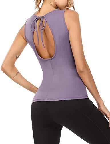 Sykooria Camiseta de Sin Mangas para Mujer Fitness Deportiva Tirantes de Ocio...