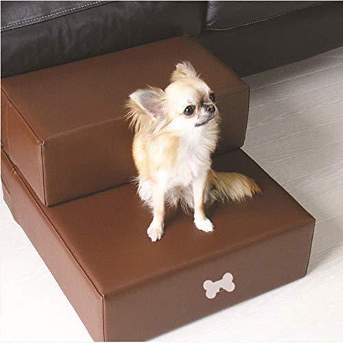 Yshen Escaleras para Perros Escaleras Limpieza fácil Prueba para Mascotas Perros de Cuero Escaleras Plegables Escaleras Cama Sofá Cojín para Perros Animales pequeños Gato