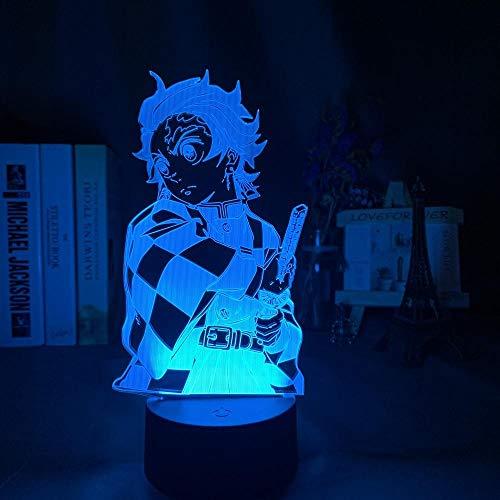 Kimetsu No Yaiba Tanjiro Kamado Abbildung 3d Nachtlampe für Kinder Schlafzimmer Dekor Nachtlicht Kinder Led Nachtlicht Dämonentöter Geschenk