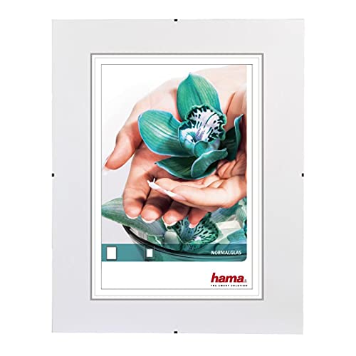 "Hama Cadre photo ""Clip-Fixe"" (sans bordure, 40 x 60 cm, Reflex) Blanc"