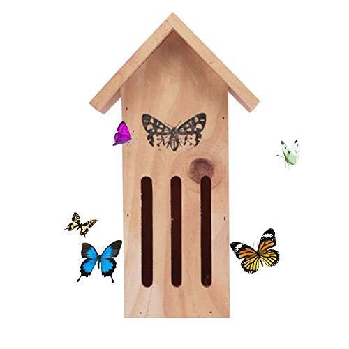 Draulic Hölzernes Schmetterlingshaus Sicheres Schutzinsekten-Haus für Schmetterlinge mit einem sicheren Hafen zum Ausruhen