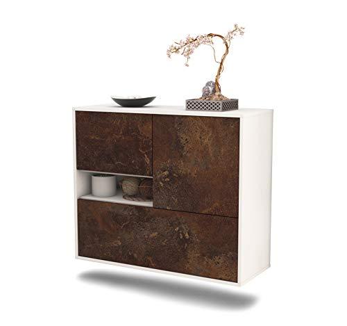 Dekati dressoir Santa Clarita hangend (92 x 77 x 35 cm) corpus wit mat | front industrieel ontwerp | Push-to-Open