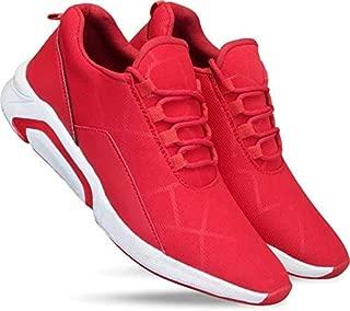 Men Sport Athletic Running Walking Shoes Runner Jogging Sneakers Size 06 UK Red