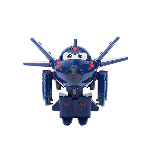 Vliegtuig Robot Toy 4Types Mini Plane Toy Animation Action Figure Transforming Robot Airplane Kid Toys