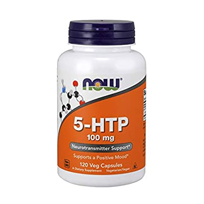 NOW Supplements, 5-HTP (5-hydroxytryptophan) 100 mg, Neurotransmitter Support*, 120 Veg Capsules
