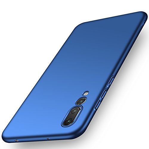 ORNARTO Funda Huawei P20 Pro, HW P20 Pro Carcasa [Ultra-Delgado] [Ligera] Mate Anti-arañazos y Antideslizante Protectora Sedoso Caso para Huawei P20 Pro(2018) 6.1' Azul