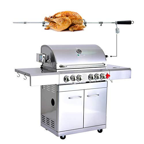GREADEN- BBQ Grill Barbecue À Gaz INOX DÖNER- 4 BRÛLEURS+ 1 KIT...