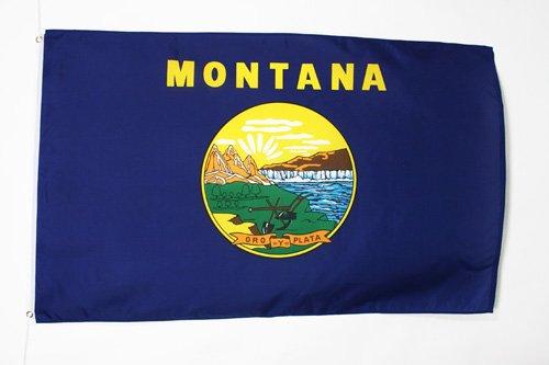 AZ FLAG Drapeau Montana 90x60cm - Drapeau Etat américain - USA - Etats-Unis 60 x 90 cm - Drapeaux