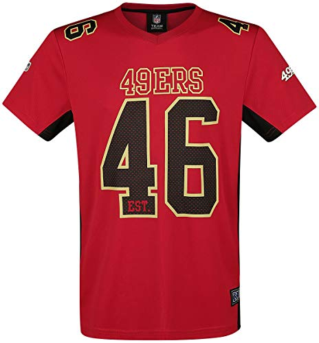 Majestic Athletic San Francisco 49ers NFL Moro Poly Mesh Jersey tee T-Shirt...