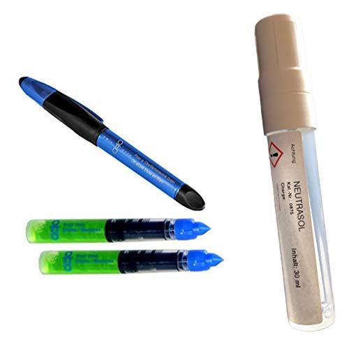 Spezial-Set: Metall-Ätzstift VA (für alle Schwermetalle -Eisen, Stahl, Kupfer, Nickel, Zinn, Blei etc.- einschließlich rostfreier Edelstähle) + NEUTRASOL, Dispenser (Pen), 30 ml Inhalt