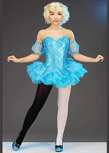 Disfraz de Bailarina de Circo Azul Estilo Dumbo para Mujer Medium (UK 10-12)