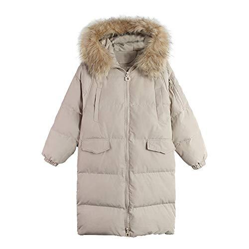 DRT Faux-Pelz-winterparka knielange donsmantel mode verdikte donsjack met bont