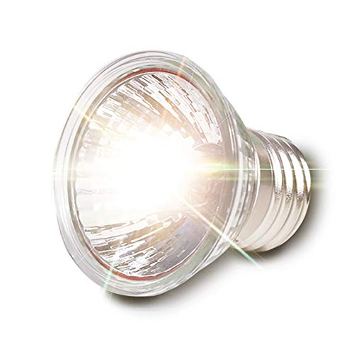 GonFan 10Pcs UVA/UVB Reptile Heat Lamp Bulb Full Spectrum Sunlight Lamp E27 Sunbathe UV Heating Lamp (Color : Silver, Size : 75W)